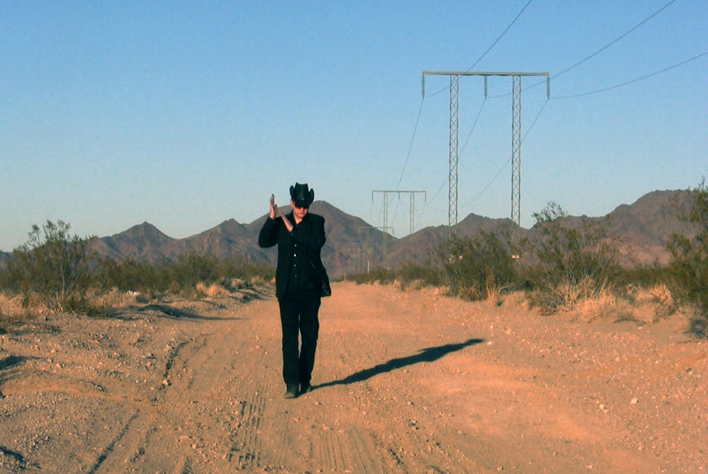 "Mohavi performing in the Mojave Desert, Nevada, USA. From the video ""In the end (it all comes back to you)"""